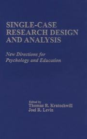 Cover of: Single-case research design and analysis