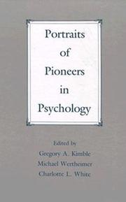 Cover of: Portraits of Pioneers in Psychology (Portraits of Pioneers in Psychology (Hardcover APA)) |