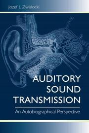 Cover of: Auditory Sound Transmission