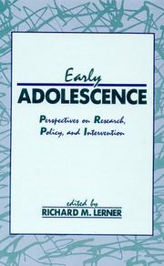 Cover of: Early Adolescence