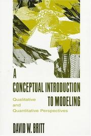 Cover of: A conceptual introduction to modeling