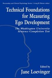 Cover of: Technical foundations for measuring ego development