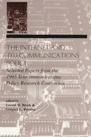 Cover of: The Internet and Telecommunications Policy |