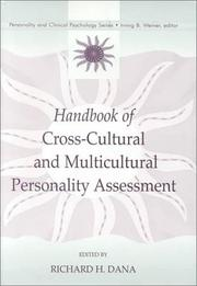 Cover of: Handbook of Cross-Cultural and Multicultural Personality Assessment (Personality and Clinical Psychology Series)
