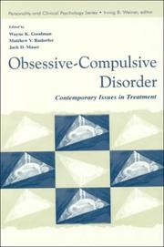 Cover of: Obsessive-Compulsive Disorder |