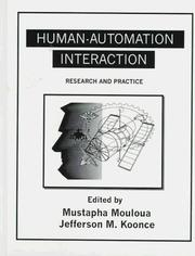 Cover of: Human-Automation Interaction |