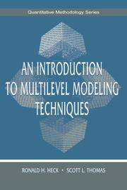 Cover of: An Introduction to Multilevel Modeling Techniques (The Quantitative Methodology Series)