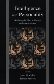 Cover of: Intelligence and personality |