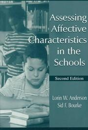 Cover of: Assessing affective characteristics in the schools