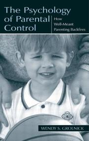 Cover of: The Psychology of Parental Control