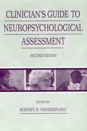 Cover of: Clinician's Guide To Neuropsychological Assessment