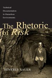 Cover of: The Rhetoric of Risk