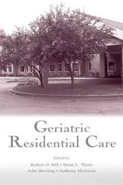 Cover of: Geriatric residential care by