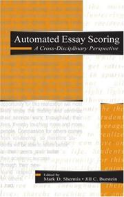 Cover of: Automated Essay Scoring |