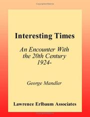 Cover of: Interesting times | George Mandler
