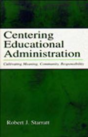 Cover of: Centering Educational Administration