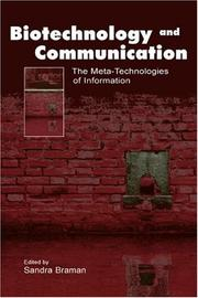 Cover of: Biotechnology and Communication