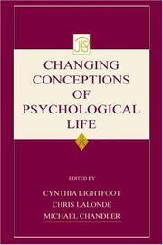 Cover of: Changing conceptions of psychological life |