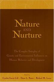 Cover of: Nature and Nurture |