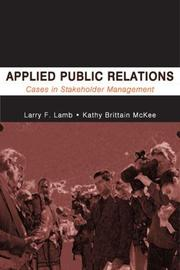 Cover of: Applied Public Relations | Lawrence F. Lamb