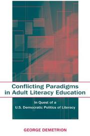 Cover of: Conflicting Paradigms in Adult Literacy Education