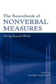 Cover of: The Sourcebook of Nonverbal Measures