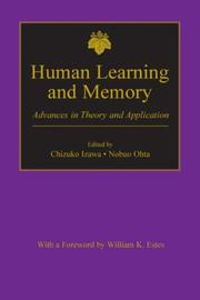 Cover of: Human learning and memory by