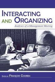 Cover of: Interacting and Organizing