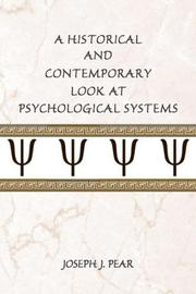 Cover of: A Historical and Contemporary Look at Psychological Systems