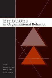 Cover of: Emotions in Organizational Behavior |