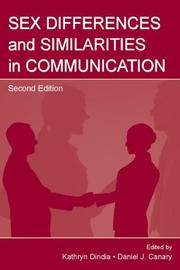 Cover of: Sex differences and similarities in communication