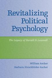 Cover of: Revitalizing Political Psychology | William Ascher