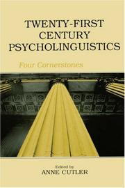 Cover of: Twenty-first century psycholinguistics |