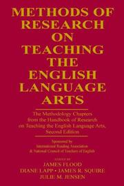 Cover of: Methods of research on teaching the English language arts |