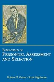 Cover of: Essentials of personnel assessement and selection