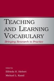 Cover of: Teaching and learning vocabulary |