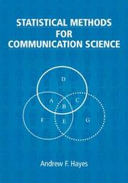 Cover of: Statistical methods for communication science | Andrew F. Hayes