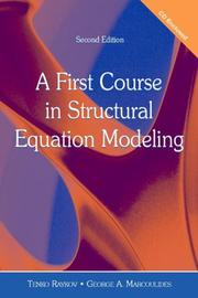 Cover of: A First Course in Structural Equation Modeling | Tenko Raykov