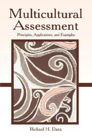 Cover of: Multicultural Assessment