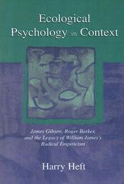 Ecological Psychology in Context by Harry Heft