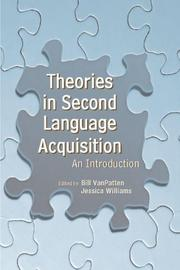 Cover of: Theories in Second Language Acquisition |