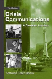 Cover of: Crisis Communications | Kathleen Fearn-Banks
