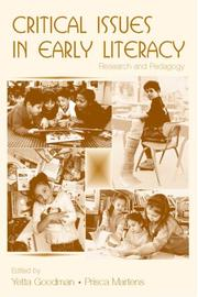 Cover of: Critical Issues in Early Literacy |
