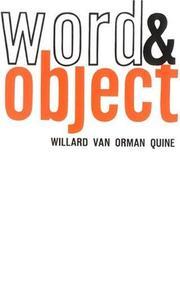 Cover of: Word and Object (Studies in Communication)