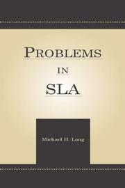 Cover of: Problems in SLA