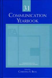 Cover of: Communication Yearbook 31 (Communication Yearbook)