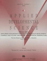 "Cover of: EXPLORING ADOLESCENT ADS V8#1 ""a'' (Applied Developmental Science)"