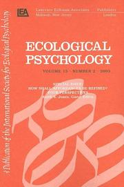 Cover of: How Shall Affordances Be Refined?: Four Perspectives:a Special Issue of ecological Psychology (Ecological Psychology)