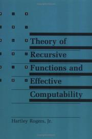 Theory of Recursive Functions and Effective Computability