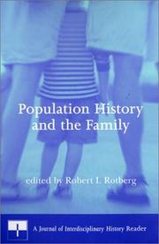 Cover of: Population History and the Family